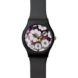 Montre Flower power pourpre génial
