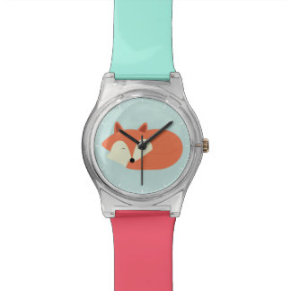 Montre Fox rouge somnolent
