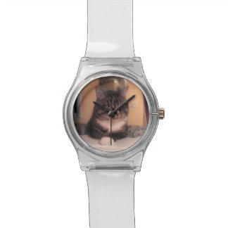 Montre fraîche d'espace libre de chat montres cadran