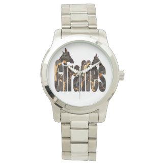 Montre Girafes avec le logo de motif de girafe, grand