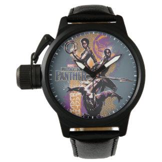 Montre Guerriers de la panthère noire   Wakandan peints