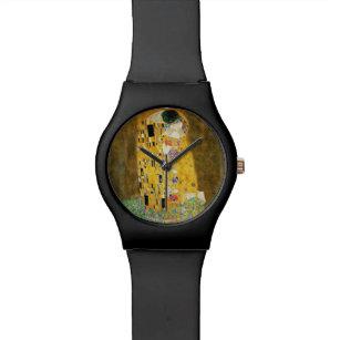 Montre Gustav Klimt la peinture vintage de Nouveau d'art