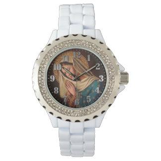 Montre Horloge féminine avec des petites pierres «Notre