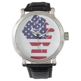 Montre Horloge pour des patriotes d'Américain