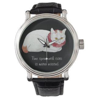 Montre japonaise blanche vintage de citation d'art montres cadran