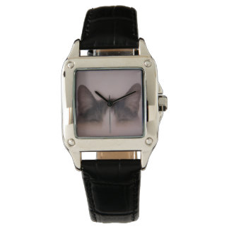 Montre Kitty mignon peignant la conception