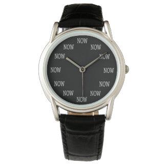 Montre Le temps est MAINTENANT montre-bracelet : Lettres