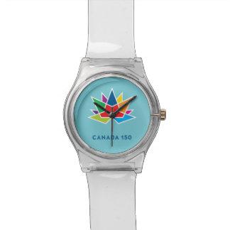 Montre Logo de fonctionnaire du Canada 150 - multicolore