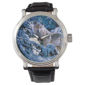 Montre Loup arctique - loup blanc - art de loup