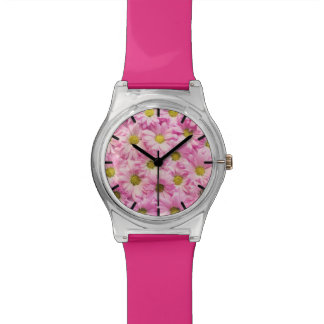 Montre - May28th - marguerites roses de Gerbera