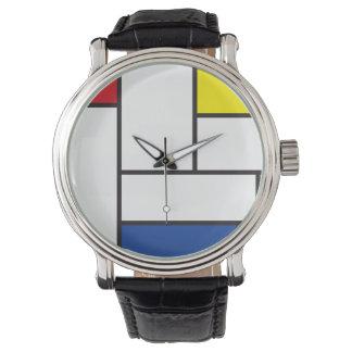 Montre minimaliste d'art moderne de Piet Mondrian