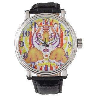 Montre Montre-bracelet de tigre de cirque