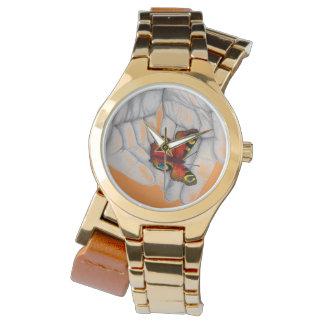 Montre Montre-bracelet papillon d'or