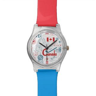 Montre Motif de symboles du Canada |