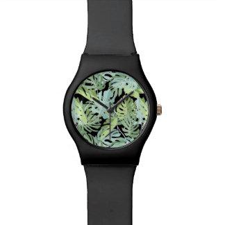 Montre Motif floral de jungle