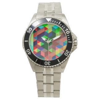 Montre Motif géométrique audacieux de cube