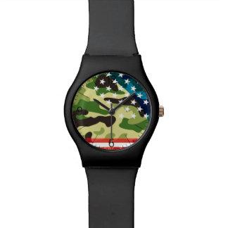 Montre Motif patriotique de camouflage
