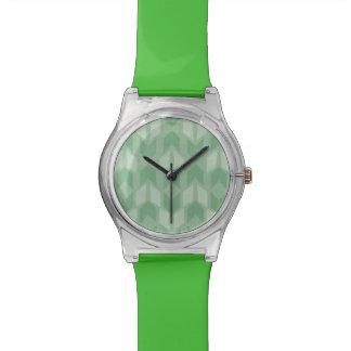 Montre Motif vert extérieur de flèche d'étape | de Geo