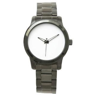 Montre noire unisexe surdimensionnée de bracelet montres bracelet