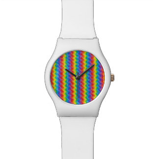 Montre Ondulations d'arc-en-ciel