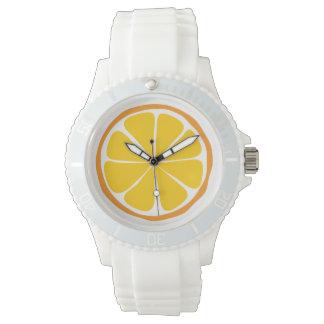 Montre orange d'agrume d'été montres cadran
