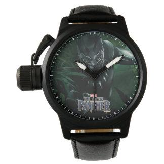 Montre Panthère noire   dans la jungle