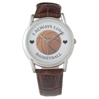 Montre passion de sport d'amour de basket-ball