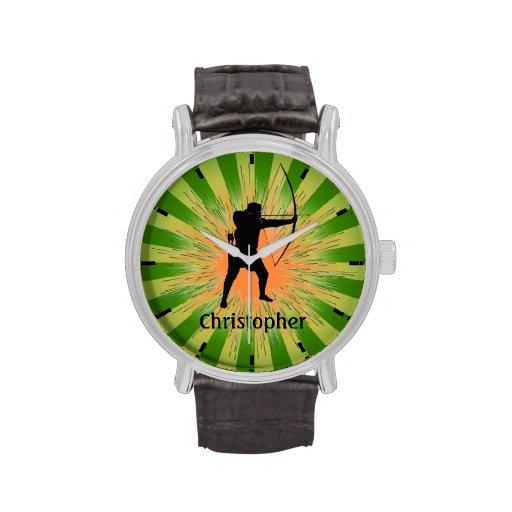 Montre personnalisable de conception de tir à l'ar montres bracelet