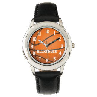 Montre personnalisée de basket-ball d'enfants montres