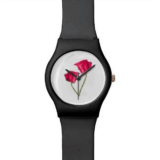 Montre Photo de roses rouges