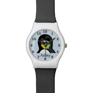 Montre Pingouin drôle mignon de bande dessinée