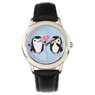 Montre Pingouins dans l'amour