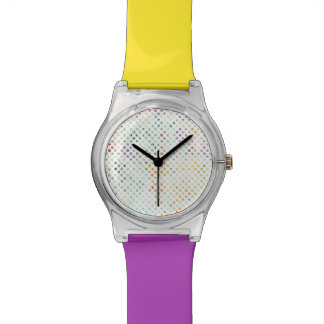 Montre Pois tropical lumineux d'aquarelle