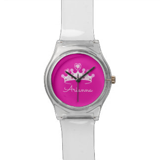 Montre Princesse Crown Custom Personalized de roses