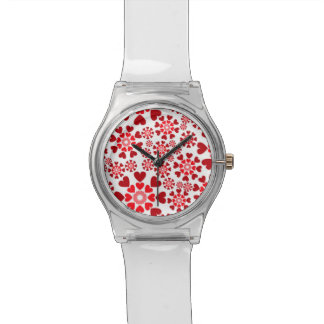 Montre rouge des coeurs May28th Montres