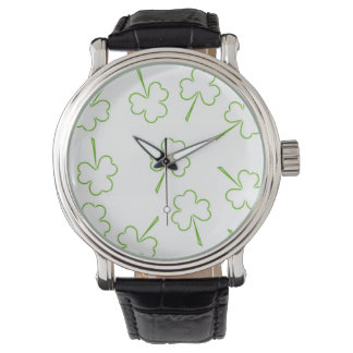 Montre Shamrocks irlandais