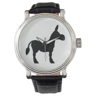 Montre Silhouette d'âne