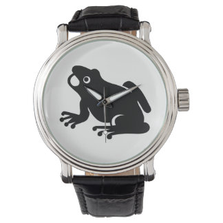 Montre Silhouette de grenouille