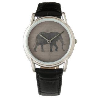 Montre Silhouette d'éléphant africain