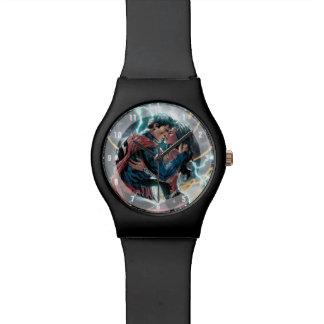 Montre Superman/art promotionnel comique femme de