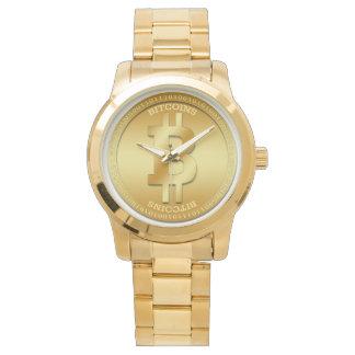 Montre surdimensionnée unisexe de bracelet d'or