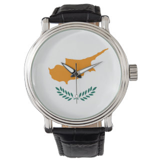 Montre Symbole de drapeau de pays de la Chypre longtemps