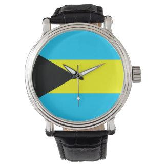 Montre Symbole de drapeau de pays des Bahamas longtemps