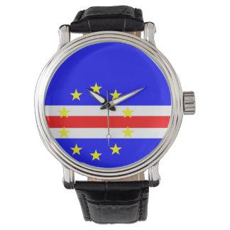 Montre Symbole de drapeau de pays du Cap Vert longtemps