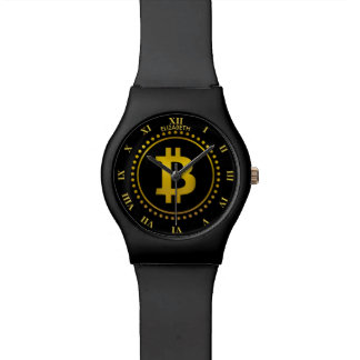 Montre Symbole d'or Cryptocurrency HODL de Bitcoin drôle