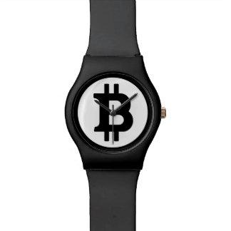 Montre Symbole original de logo de Bitcoin toute la