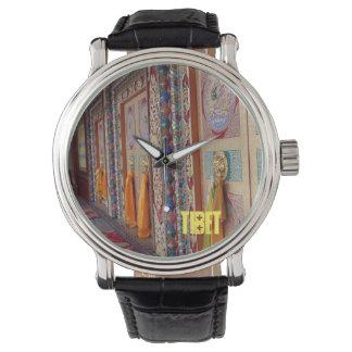 Montre traditionnelle tibétaine de portes montres