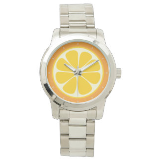 Montre Tranche tropicale orange juteuse douce d'agrumes