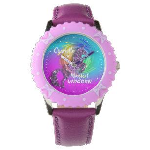 Montre Unicorn Rainbow Cute Girly Personnalisée