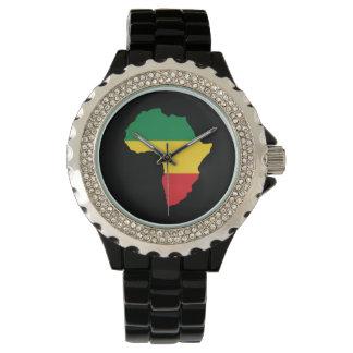 Montre Vert, or et drapeau rouge de l'Afrique